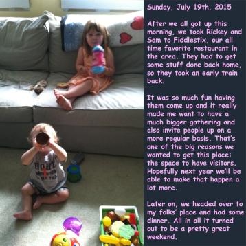 Sunday, July 19th, 2015