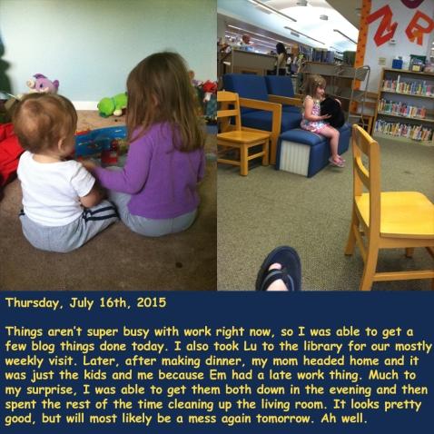 Thursday, July 16th, 2015