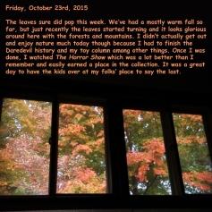 Friday, October 23rd, 2015