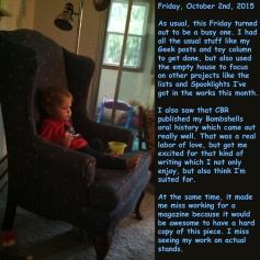 Friday, October 2nd, 2015