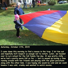 Saturday, October 17th, 2015