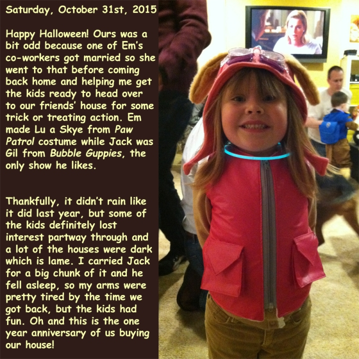 Saturday, October 31st, 2015