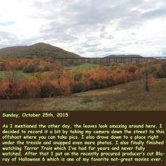 Sunday, October 25th, 2015