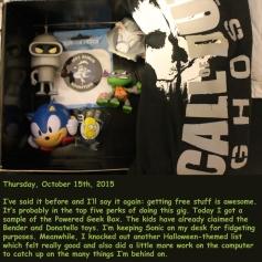 Thursday, October 15th, 2015