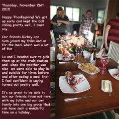 Thursday, November 26th, 2015
