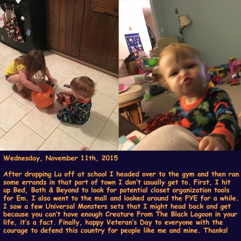 Wednesday, November 11th, 2015