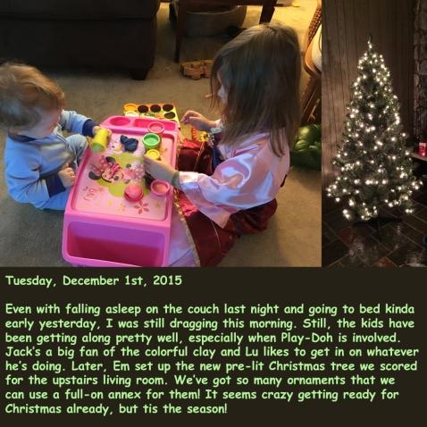 Tuesday, December 1st, 2015