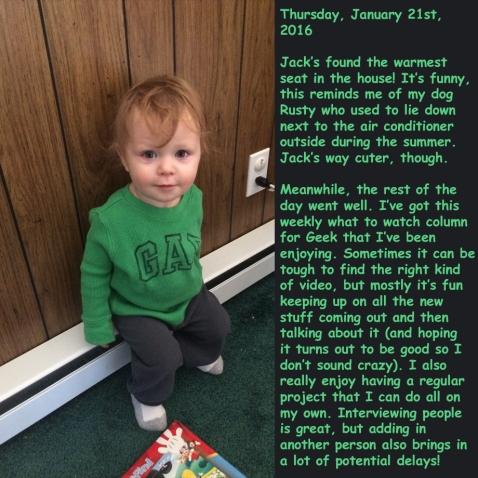 Thursday, January 21st, 2016