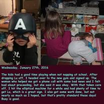 Wednesday, January 27th, 2016