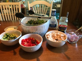 greek salad set-up